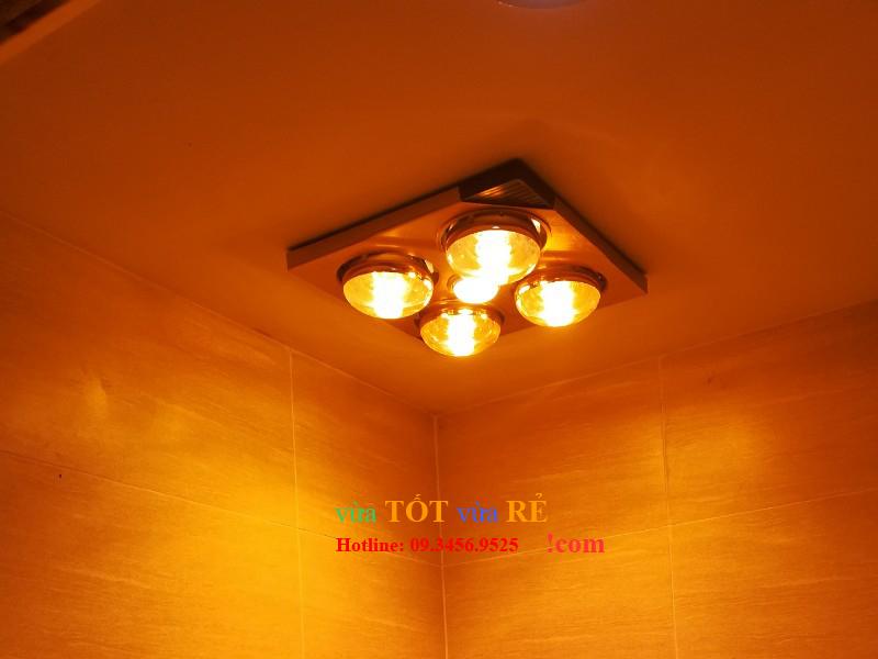 Hình ảnh lắp đặt thực tế đèn sưởi nhà tắm 4 bóng âm trần Kottmann K4BT - 09.3456.9525
