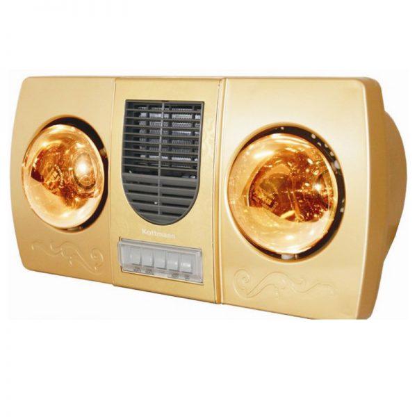 Đèn sưởi nhà tắm 2 bóng có quạt sưởi Kottmann K2BHWG - 09.3456.9525