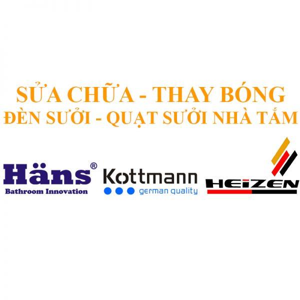 Dịch vụ sửa chữa thay bóng đèn sưởi quạt sưởi Hans Kottmann Heizen