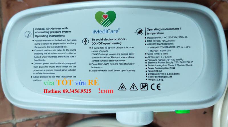 Máy bơm cho đệm hơi chống lở loét iMedicare iAM-8P CE