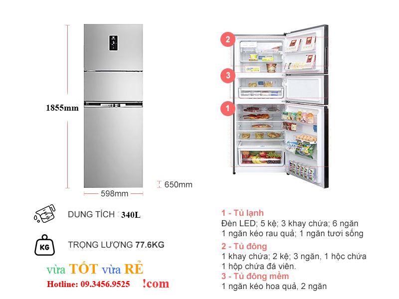 Kích thước tủ lạnh Electrolux EME3700H-A (https://vuatotvuare.com - 09.3456.9525)