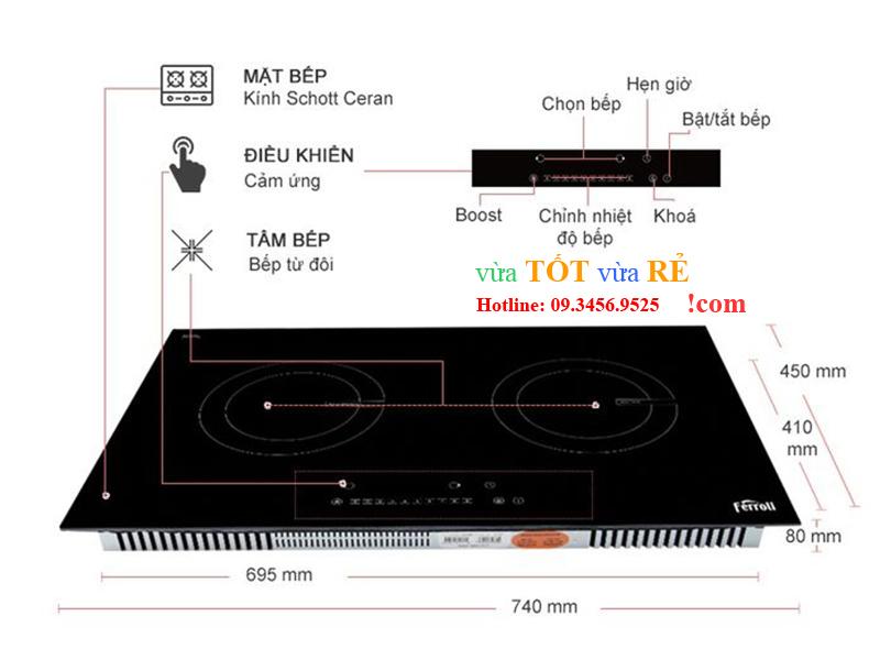 Bảng điều khiển bếp từ đôi ID4000BN - 09.3456.9525