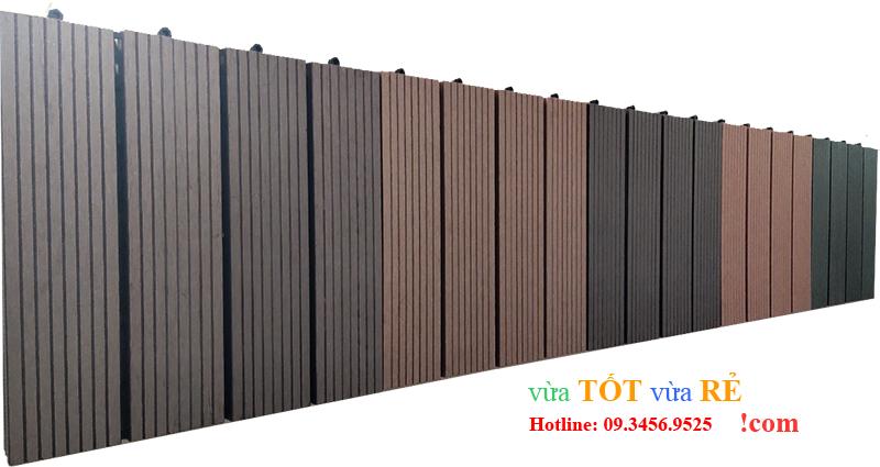 Bảng màu tấm sàn gỗ nhựa lắp ghép Euro Wood