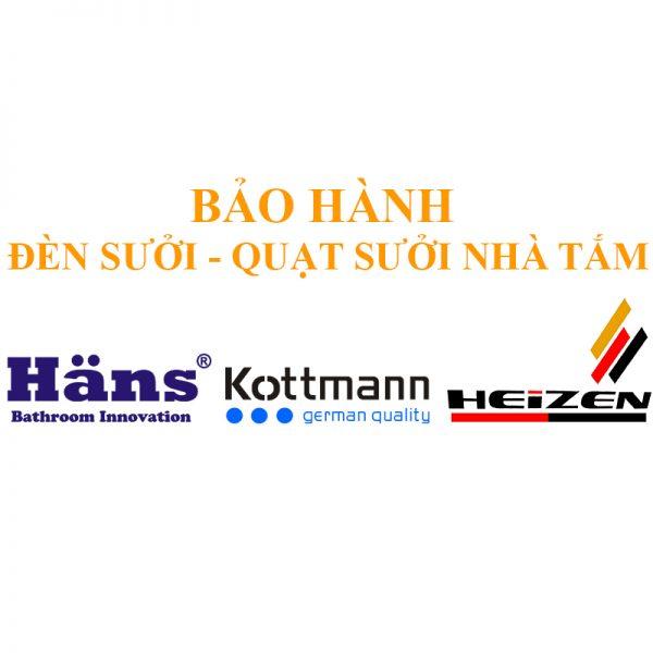 Bảo hành đèn sưởi quạt sưởi nhà tắm Hans - Kottmann - Heizen