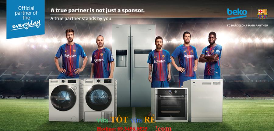 Beko là nhà tài trợ chính thức câu lạc bộ bóng đá Barcelona