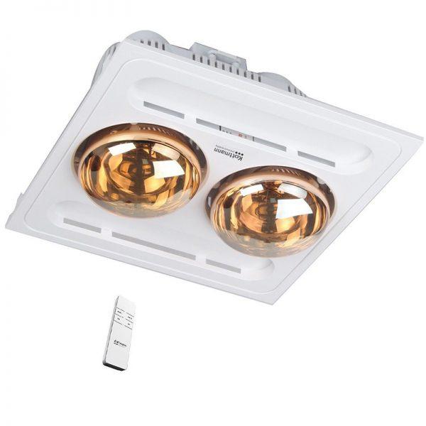 Đèn sưởi nhà tắm 2 bóng âm trần điều khiển từ xa Kottmann K9R