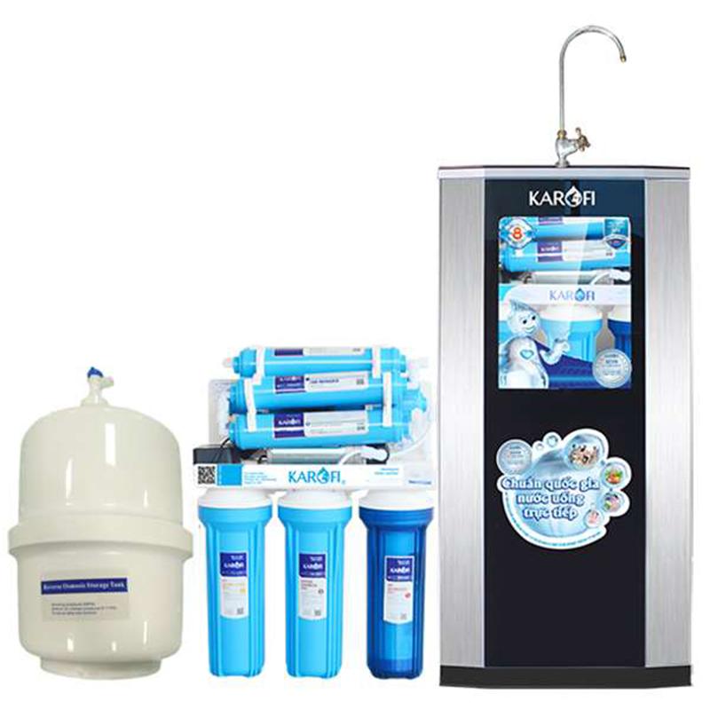 Máy lọc nước cao cấp Karofi 8 cấp lọc KT-eRO80 có tủ