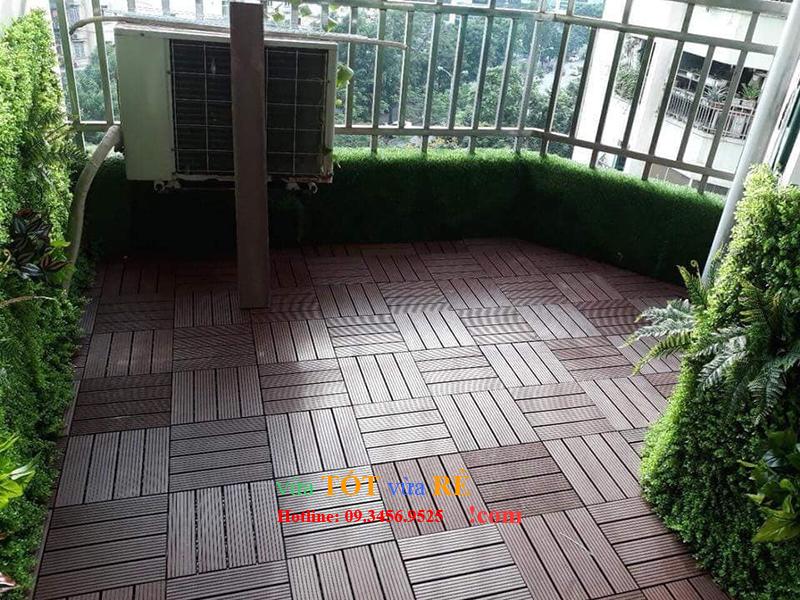 Tấm sàn gỗ nhựa lắp ghép