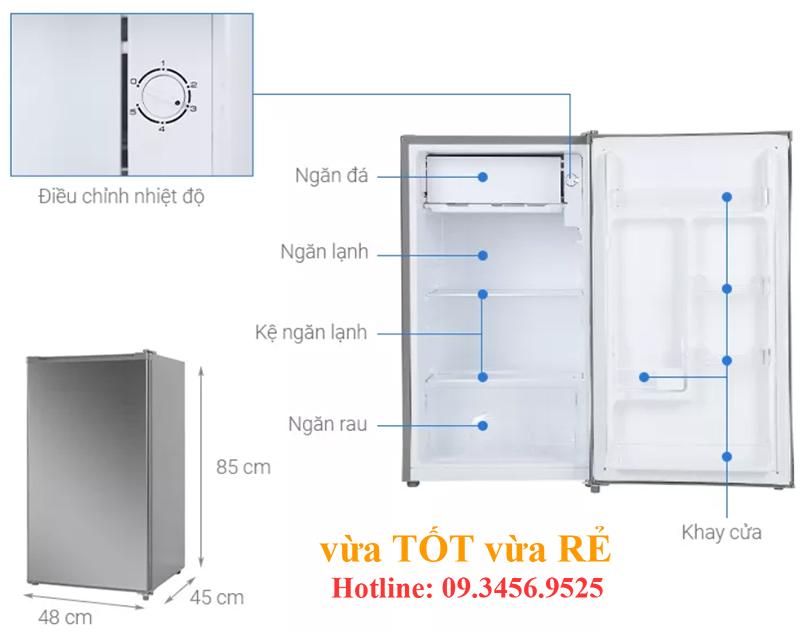 Cấu tạo tủ lạnh 95L Beko RS9051P