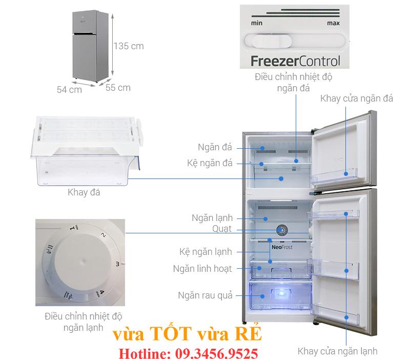 Cấu tạo tủ lạnh Beko RDNT200I50VS