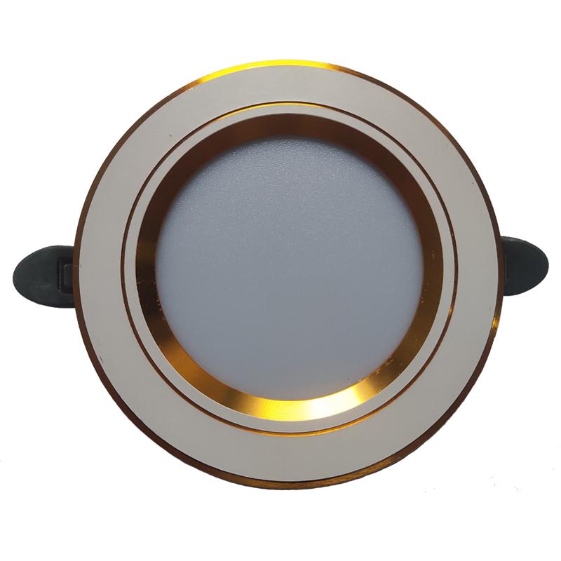 Đèn led âm trần downlight mặt vàng